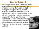 worse hazard
