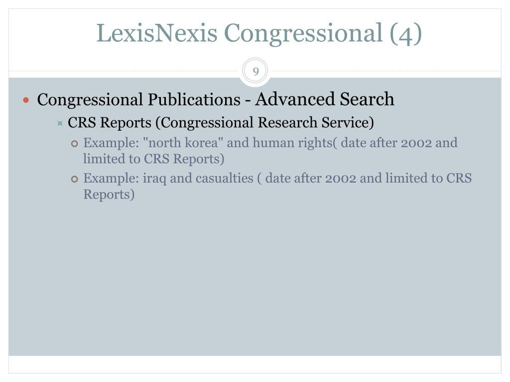 LexisNexis Congressional (4)