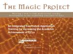 an integrated curriculum application training for increasing the academic achievement of ells