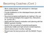 becoming coaches cont