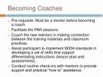 becoming coaches