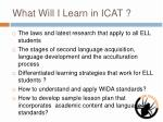 what will i learn in icat