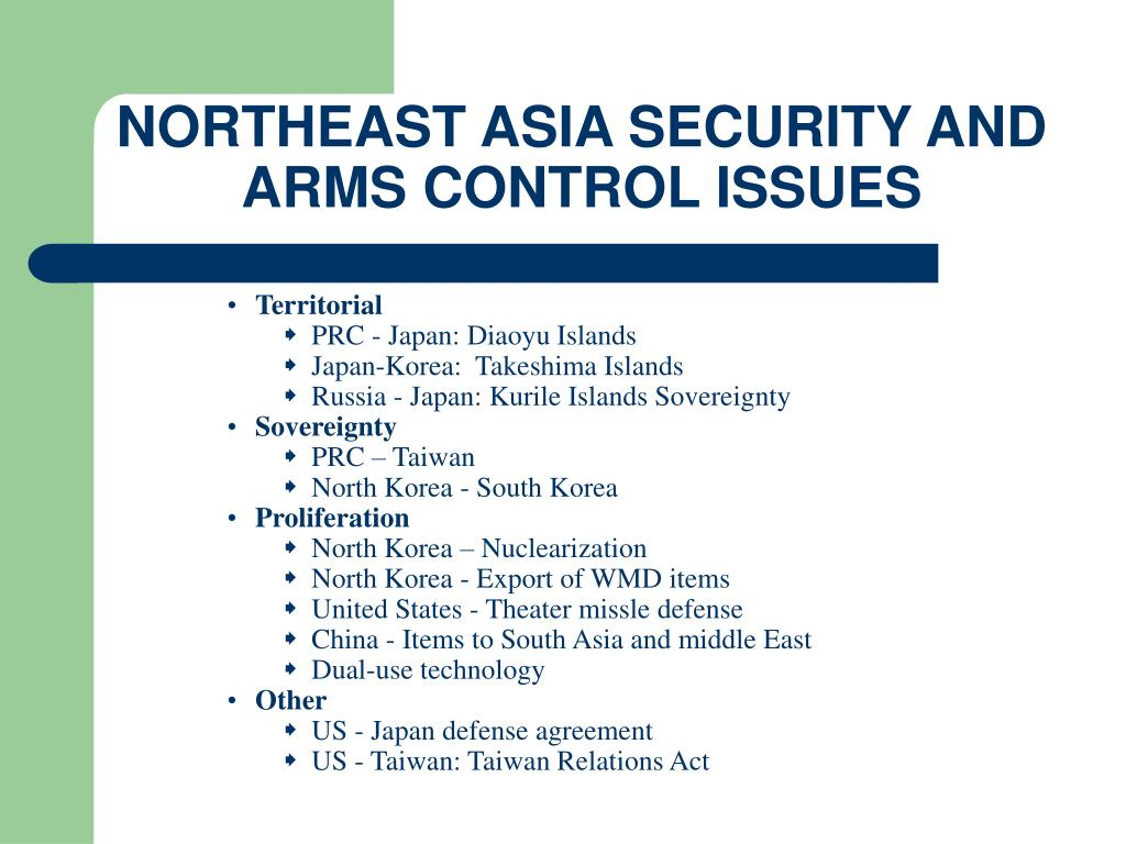 NORTHEAST ASIA SECURITY AND ARMS CONTROL ISSUES