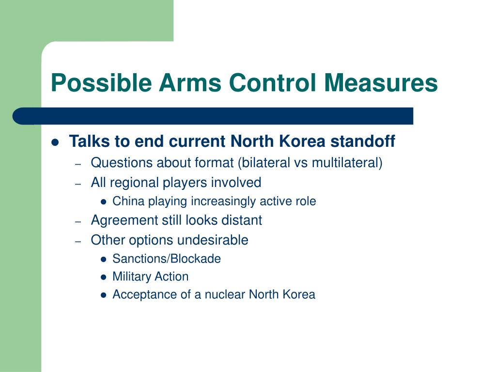 Possible Arms Control Measures