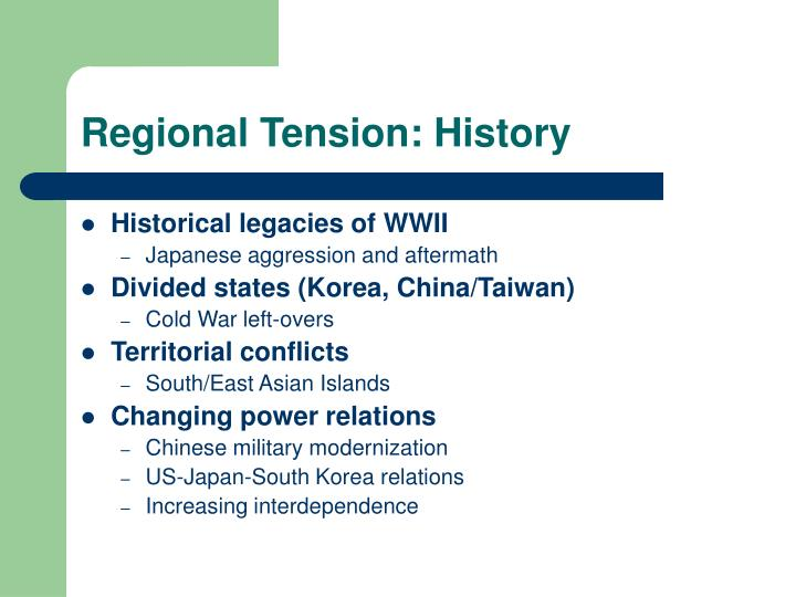 Regional tension history