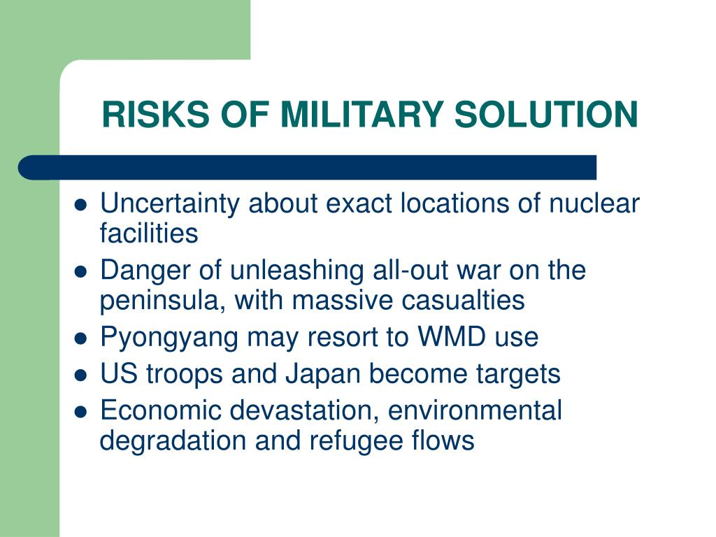 RISKS OF MILITARY SOLUTION