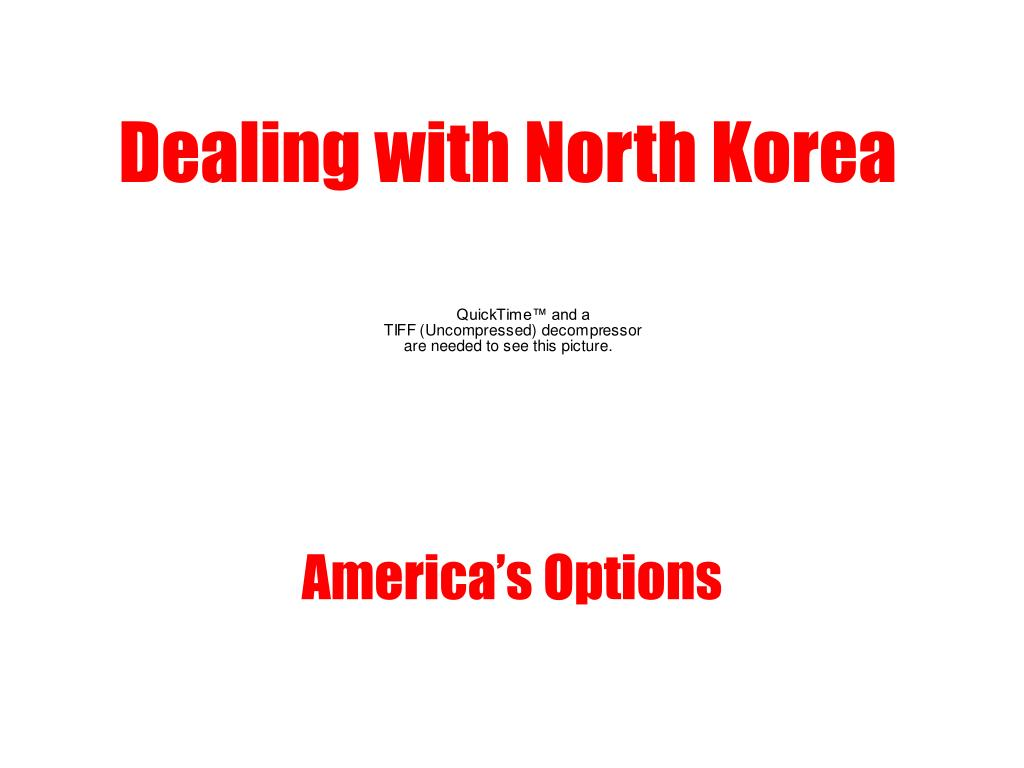 dealing with north korea l.
