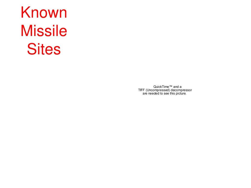 Known Missile Sites