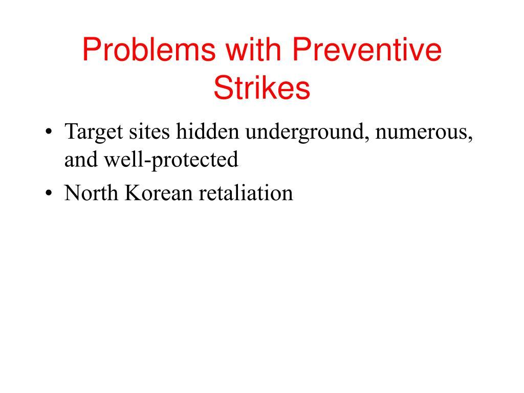 Problems with Preventive Strikes