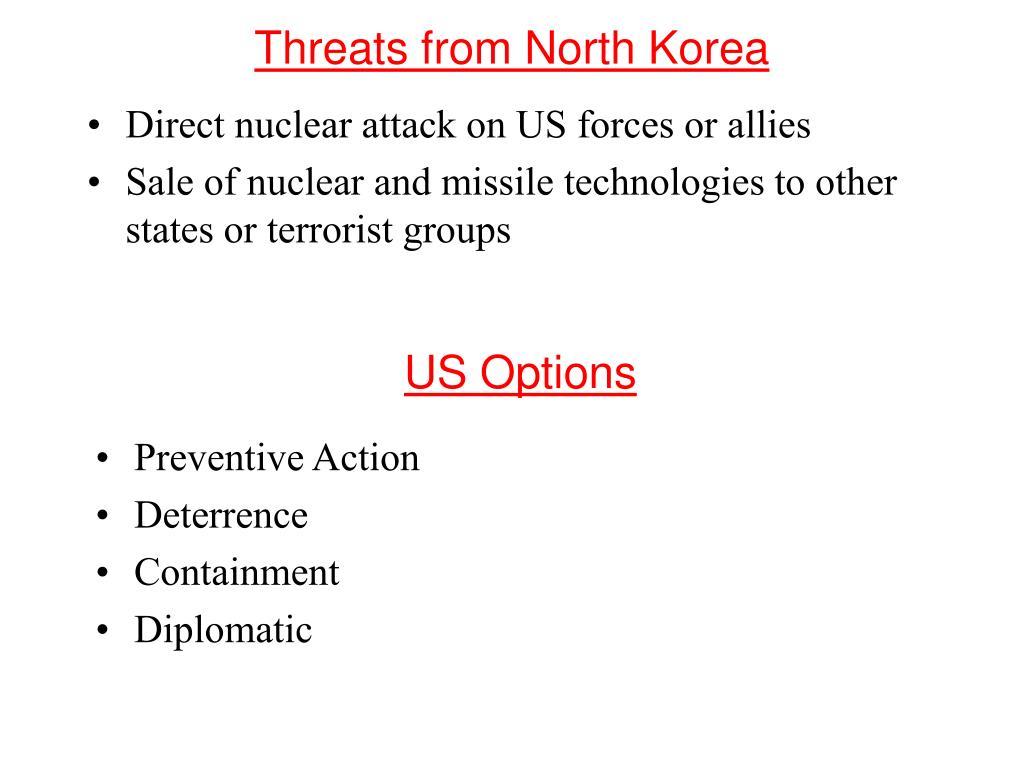 Threats from North Korea