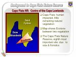 cape flats nr centre of the cape lowlands