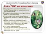 part of cfnr was also removed