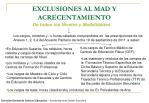 exclusiones al mad y acrecentamiento1