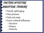 factors affecting analytical thinking