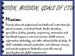 vision mission goals of ctu