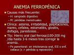 anemia ferrop nica