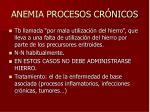 anemia procesos cr nicos