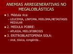 anemias arregenerativas no megalobl sticas