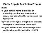 icann dispute resolution process