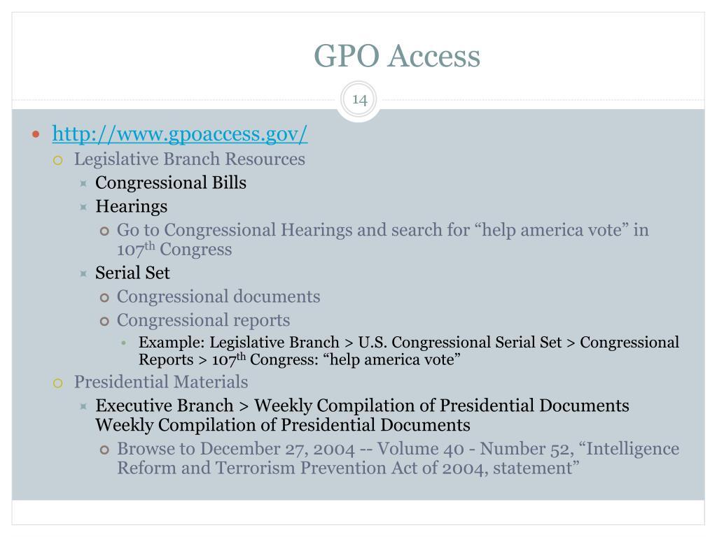 GPO Access