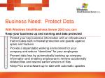 business need protect data