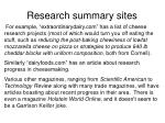 research summary sites