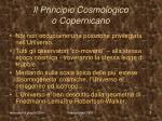 il principio cosmologico o copernicano
