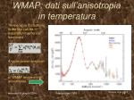wmap dati sull anisotropia in temperatura
