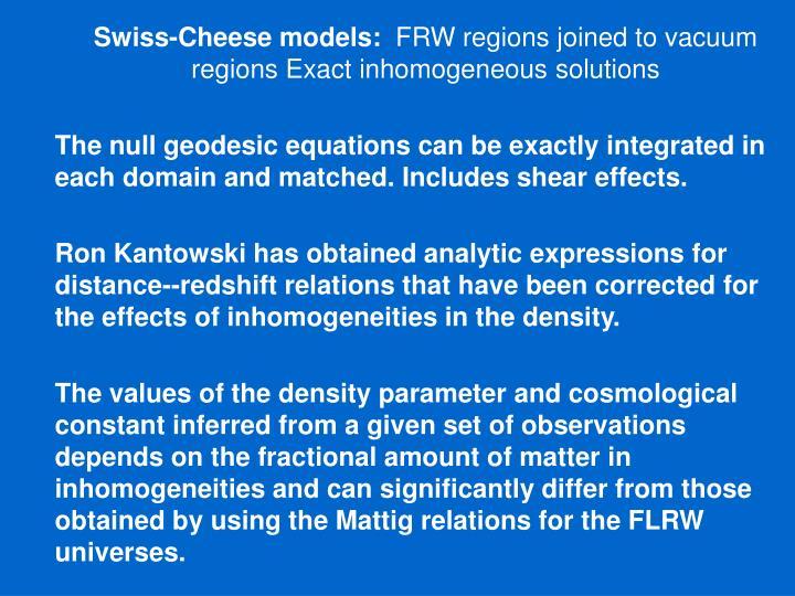 Swiss-Cheese models: