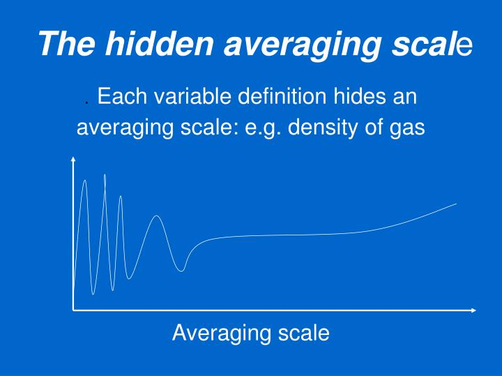 The hidden averaging scal