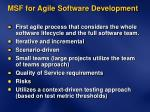 msf for agile software development