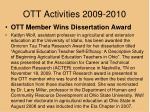 ott activities 2009 20101