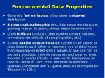 environmental data properties