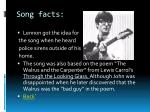song facts