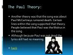 the paul theory