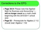 corrections to the epg