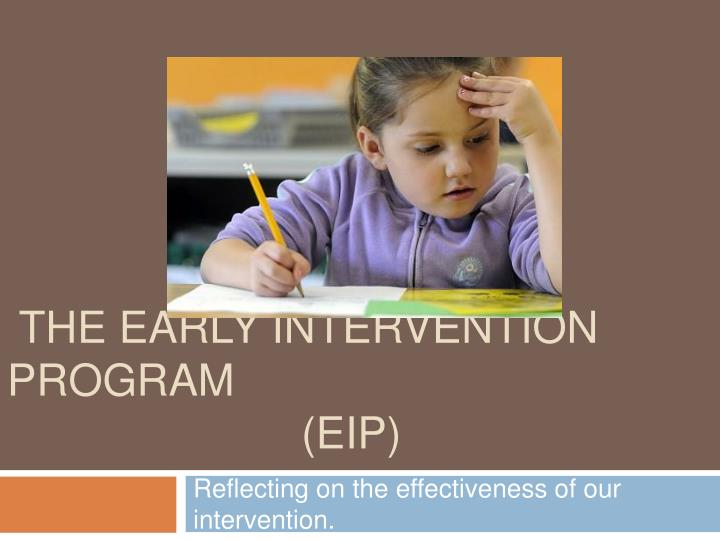 the early intervention program eip n.