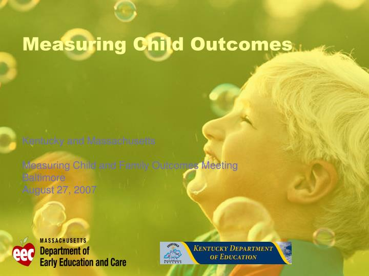 measuring child outcomes n.