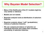 why baysian model selection
