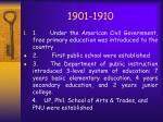 1901 1910