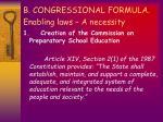 b congressional formula enabling laws a necessity