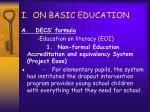 i on basic education