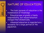 nature of education