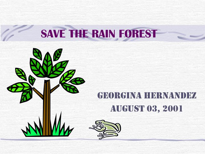 save the rain forest n.
