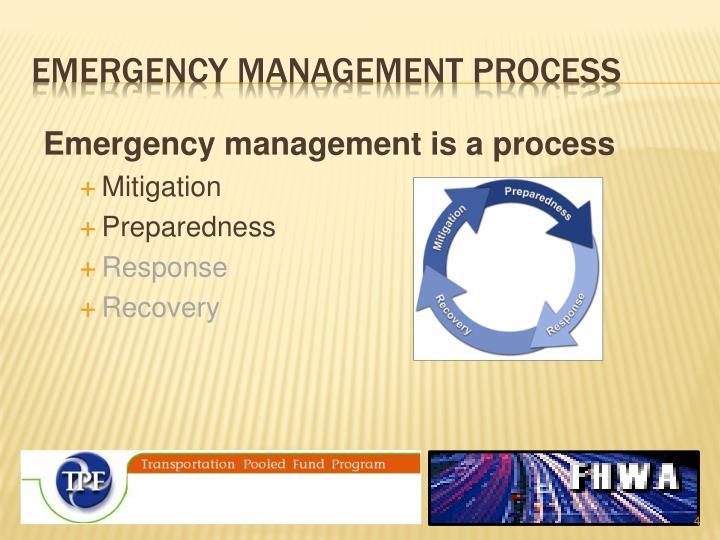 emergency management process