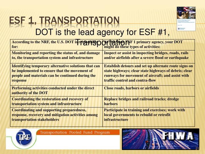 Esf 1, transportation