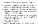 functions of the regional referral hospitals