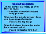 context integration
