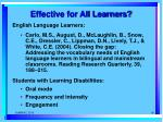 effective for all learners