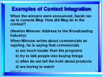 examples of context integration